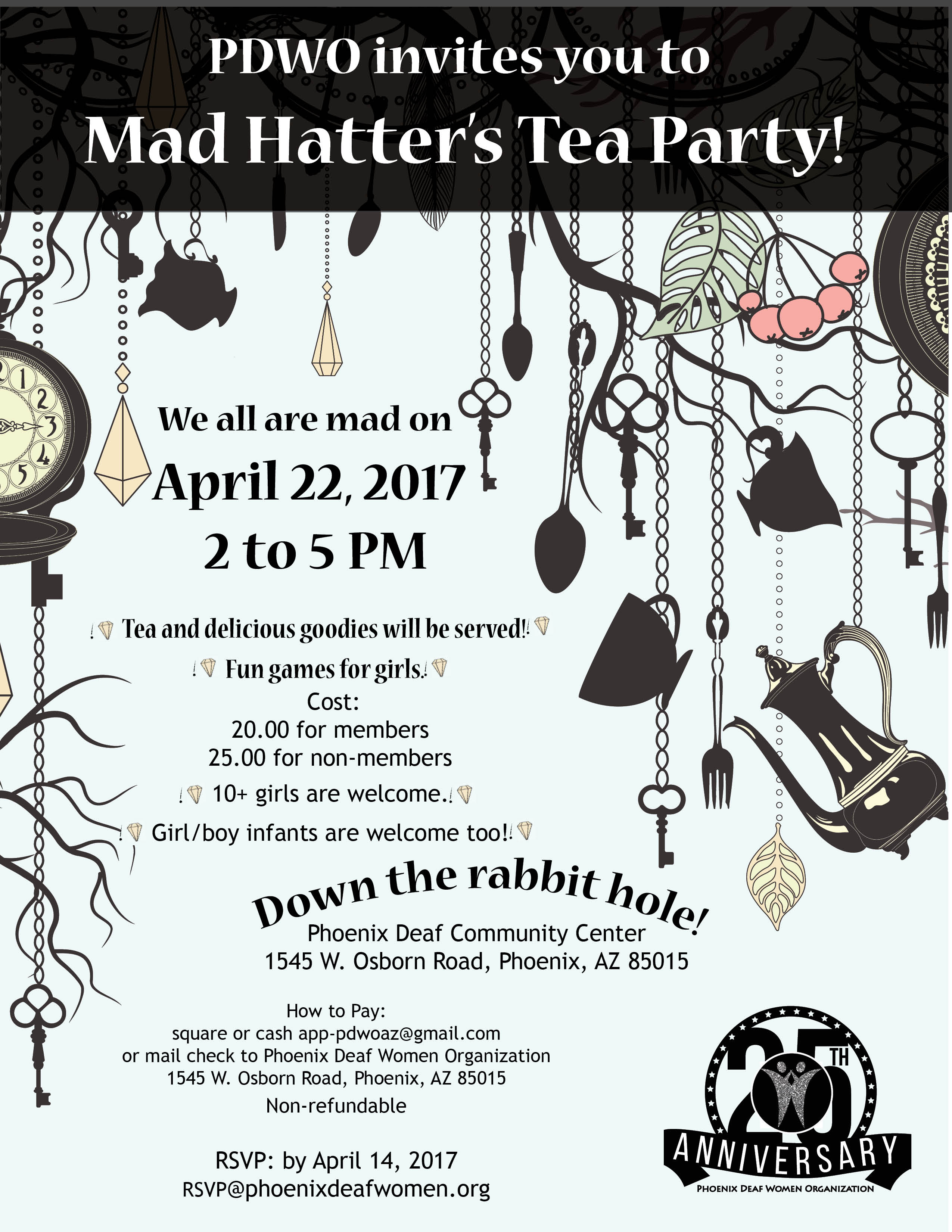 PDWO invites you to Mad Hatter\'s Tea Party